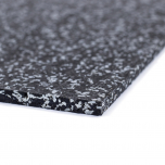 Sportovní gumová podlaha do fitness PROFI CF 10 mm černo-šedá 30% vsyp