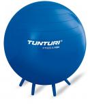 TUNTURI gymnastický míč ANTIBURST 65 cm modrý s úchyty