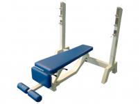 Posilovací lavice na bench press FITHAM Lavice tlaky polohovací dolu do 45 st.