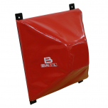 Boxovací blok - jehlan PVC BAIL červený