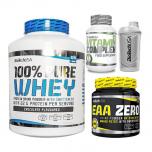 BIOTECH USA 100% PURE Whey 2270 g + EAA Zero + Vitamin Complex + Shaker ZDARMA!