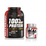 NUTREND 100% Whey Protein 2250 g + 300 g BCAA ZDARMA!