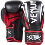 Boxerské rukavice Sharp černo/bílo/červené - kůže Nappa VENUM