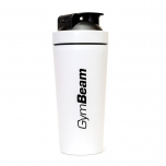 GymBeam shaker Steel 750 ml bílý