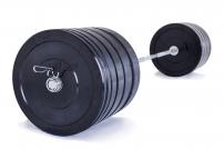 Olympijská činka TRINFIT 220 kg Bumper training