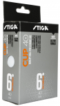 STIGA CUP ABS white 6-pack