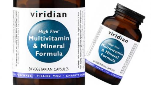 Výsledek obrázku pro Viridian High Five Multivitamin & Mineral Formula 60 kapslí