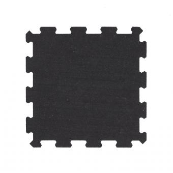 TRINFIT Sportovní gumová podlaha do fitness_puzzle_50_50_černág