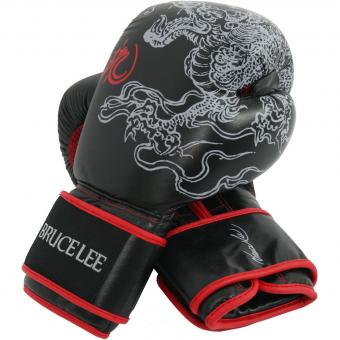 Boxerské rukavice kožené BRUCE LEE Dragon na sobě