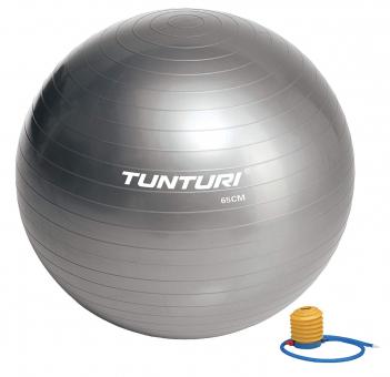 Gymnastický míč s pumpičkou TUNTURI stříbrný
