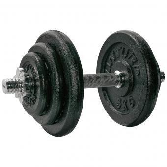 Činky jednoručky Jednoruční nakládací činka TUNTURI 20 kg složení