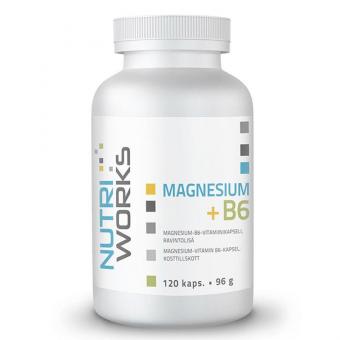 NUTRIWORKS Magnesium + B6 120 kapslí
