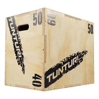 Plyometrická bedna dřevěná TUNTURI Plyo Box uhel 2