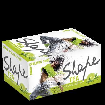 PROM-IN Shape Tea - Spalovač tuků 30 g limetka