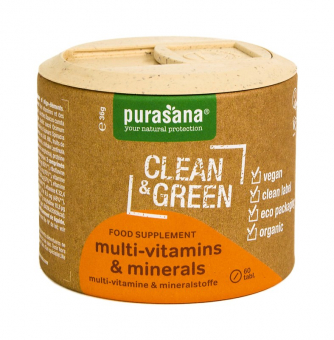 PURASANA Multi vitamins Minerals BIO 60 tablet (Multivitamíny a minerály).JPG