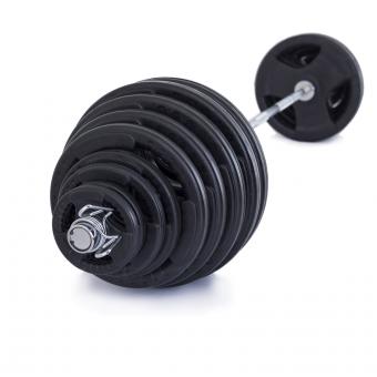 Olympijská činka TRINFIT 230 kg pugumovaná