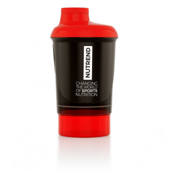 NUTREND Shaker 300 ml + zásobník černo červený