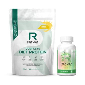 REFLEX Complete Diet Protein 600 g + REFLEX Green Tea 100 kapslí ZDARMA