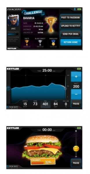 Tréninková aplikace S-FIT u Kettler racer s