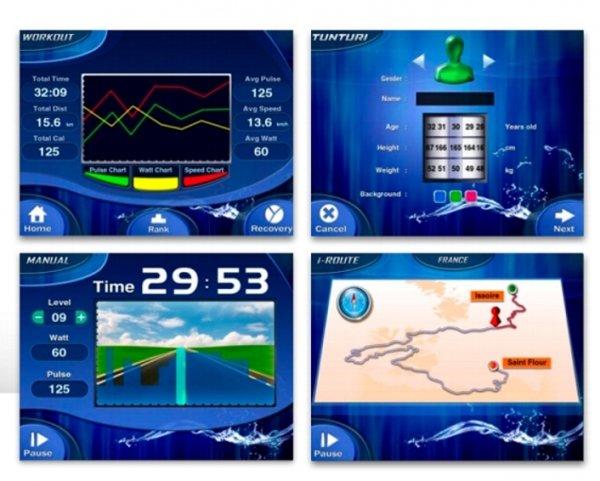 Výběr z několika tréninkových programů doplňuje sportovní aplikace tunturi app
