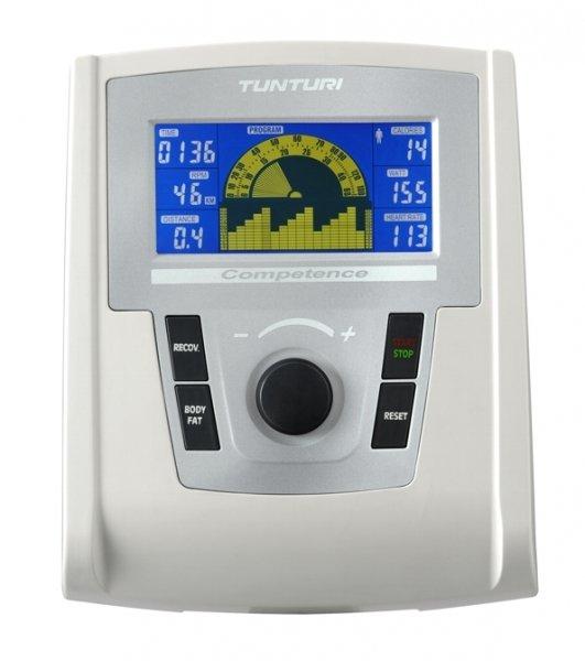 LCD displej u rotopedu je podsvícený TUNTURI PURE BIKE U 6.0