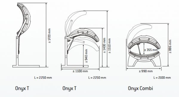 Jednostranné domácí solárium HAPRO ONYX 14/1 T
