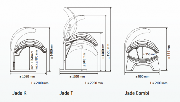 Domácí solárium HAPRO JADE 24 Combi Lc