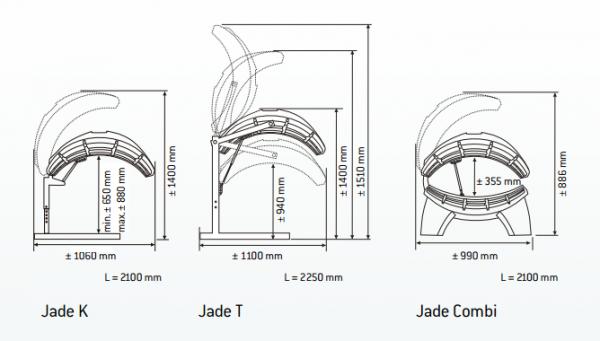 Jednostranné domácí solárium HAPRO JADE 12T