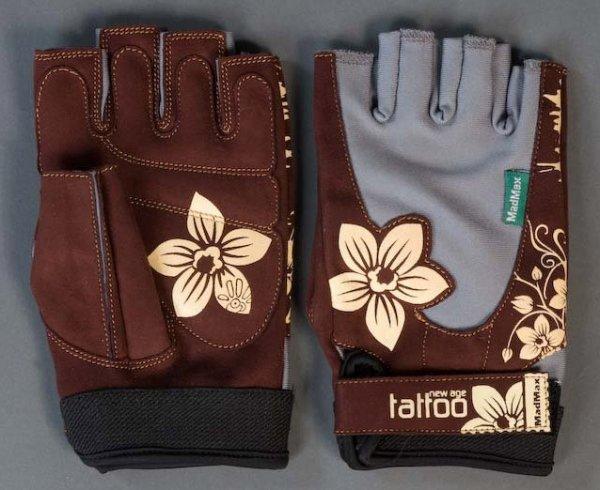 rukavice tattoo hnědég