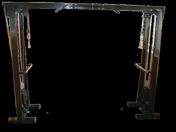 Kladkový stroj Protisměrná kladka s úzkou a širokou hrazdou