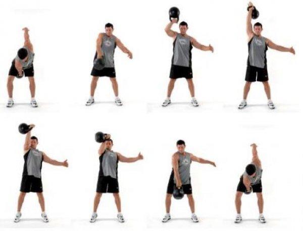 kettlbell cvičení