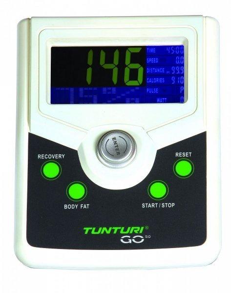 Perfektně zpracovaný LCD displej fitness stroje Recumbent Tunturi Bike 50