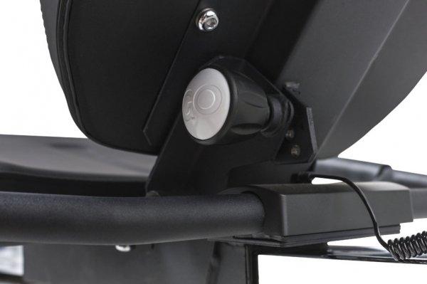 Detailní pohled na sedačku - Recumbent Tunturi Bike 50