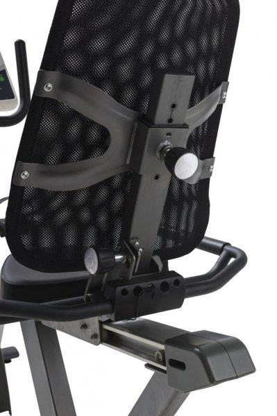 Konstrukce sedla u Recumbent Tunturi Bike GO 70