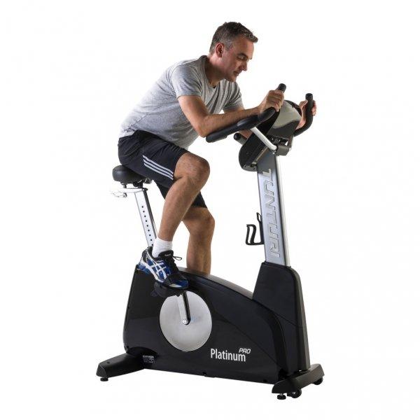 Rotoped Cvičení na posilovacím stroji Tunturi platinum PRO Upright Bike