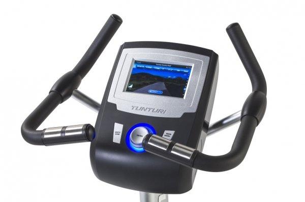 Rotoped Barevně podsvícený LCD displej u stroje na posilování - Tunturi platinum PRO Upright Bike