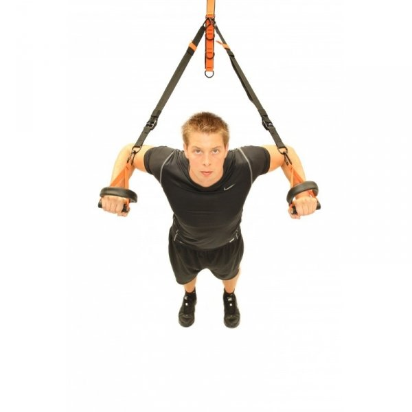 Závěsný posilovací systém TUNTURI Suspension Trainer workout 2