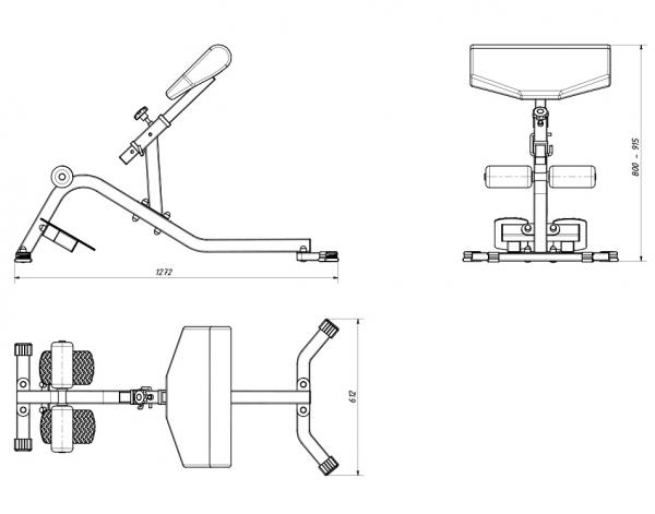 Posilovací lavice na záda MARBO MS-L108