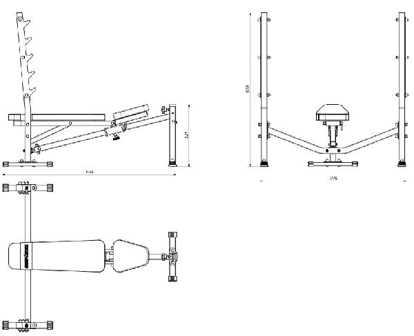 Posilovací lavice na bench press MARBO MS-L106