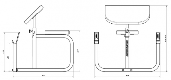 Posilovací lavice na jednoručky MARBO MH-L105