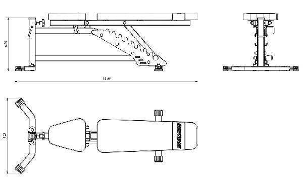 Posilovací lavice na jednoručky MARBO MS-L102