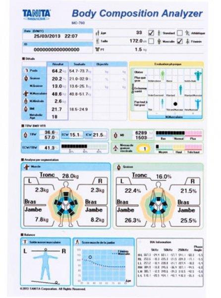 Tělesný analyzátor connexion-imprimante-balance-tanitag