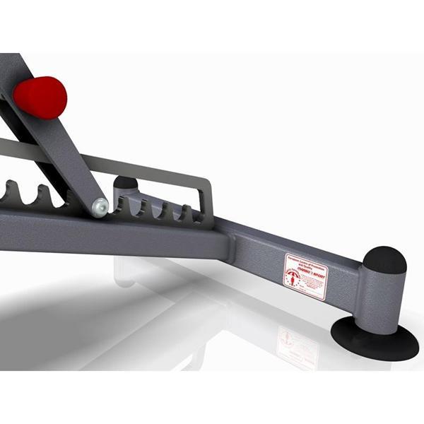 Posilovací lavice na jednoručky Variabilní posilovací lavice MARBO MP-L202 polohování zádové opěrky
