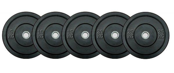 Bumper Plate Training Black - celogumové kotouče setg