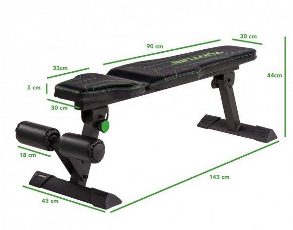 Posilovací lavice na břicho TUNTURI FB80 Flat Bench