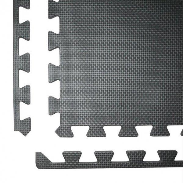 Podložka Fitness puzzle mat černá kraj 1g