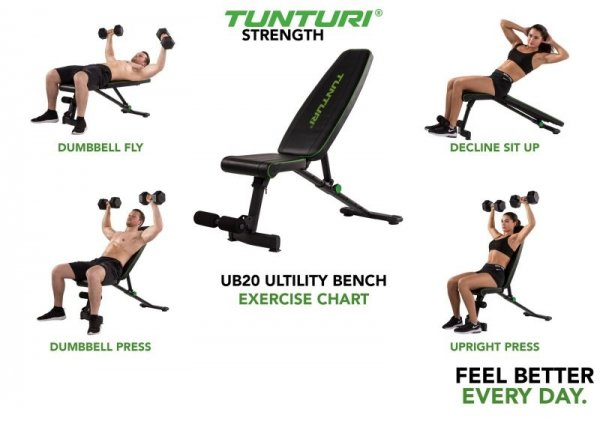 Posilovací lavice na břicho TUNTURI UB20 Utility Bench