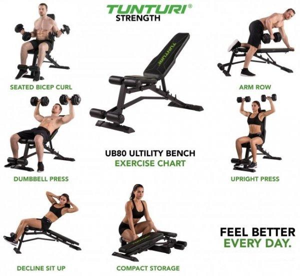 Posilovací lavice na břicho TUNTURI UB80 Utility Bench