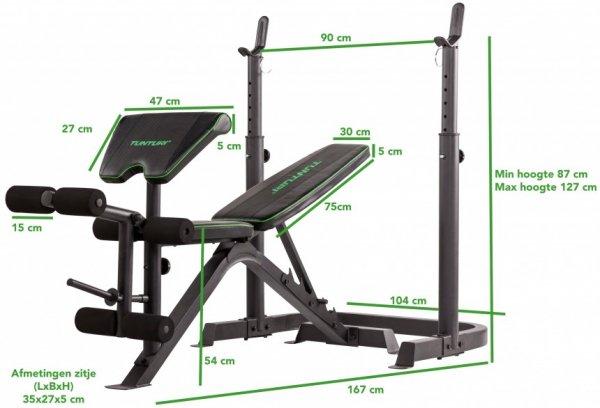 Posilovací lavice na bench press TUNTURI WB50 Mid Width Weight Bench