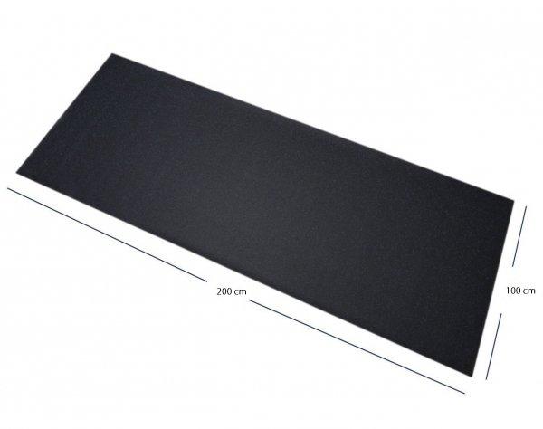 Podlaha do fitness 200x100 černá Ag